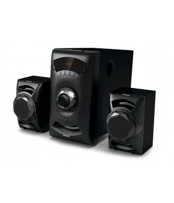 Philips MMS2143B/94 Bluetooth Home Audio Speaker  (Black, 2.1 Channel)