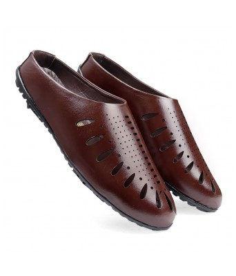 Bxxy Men's Brown Faux leather Casual Fashionable Stylish sadals