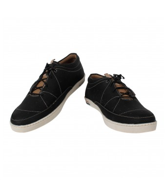 Men Black Casual Shoes Yellow Tree