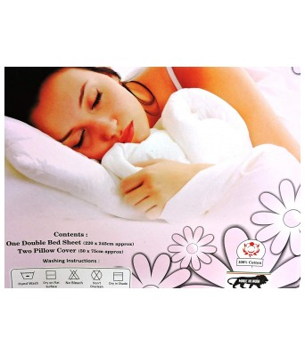 Paras Traders Presents Fine Quality 144 TC 100% Cotton Bedsheet/with Fine Printed Quality Having Multi Color/with 2 Pillow Cover