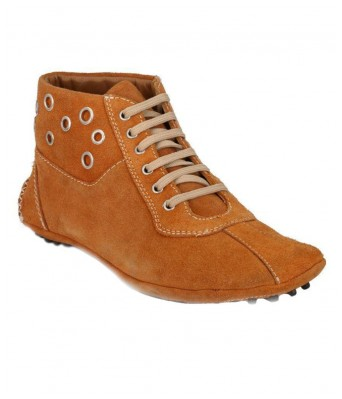 Boggy Confort Tan Suede Leather lifestyle casual Shoes for Mens & Boys