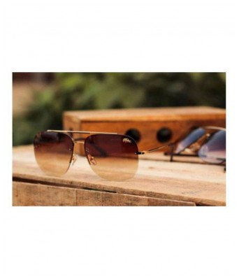 lacoste 11089 brown shade gold frame sunglasses for men