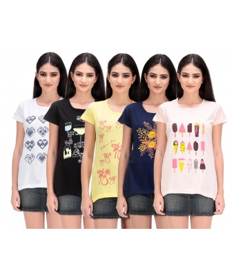 Womens Printed Cotton Tops