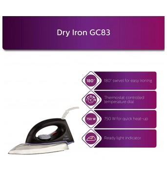 Philips Diva GC83 750-Watt Dry Iron (Black)