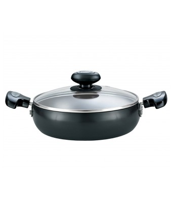 Prestige Hard Anodised Cookware Saute Pan, 240 mm , Black