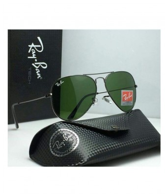 new green miroor black frame sunglasses for men