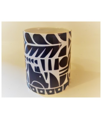 Vintage English Floral Printed Mug - Black Abstract by The Gift Attic