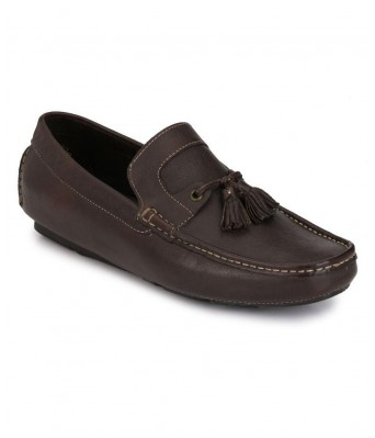 Boggy Confort Brown Genuine Leather Loafers for Mens & Boys