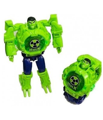 HulkTransformer Robot Toy Convert to Digital Wrist Watch for Kids