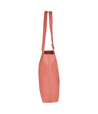 Caterfly Womens Stylish PU Leather Pink Color Adjustable Strap Hand Held Tote & Sling Bag   Shoulder Bag