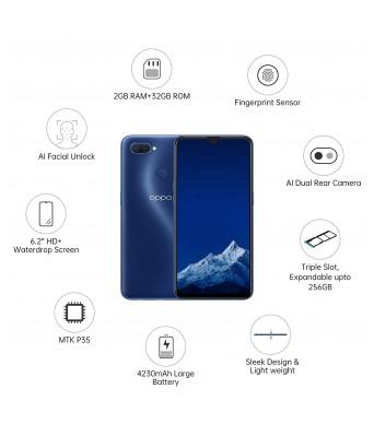 OPPO A11K (Deep Blue, 2GB RAM, 32GB Storage)