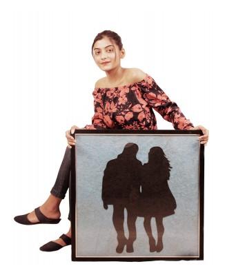 Nirmiti Creation Painting of Teen Couple- Size 60 x 60 x 2 cm