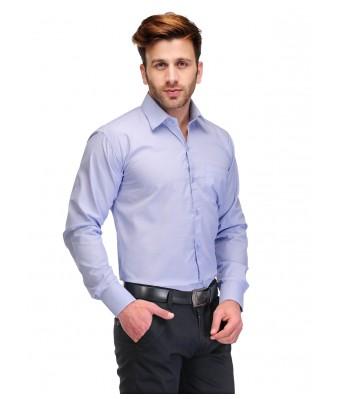 Koolpals Men Formal Rich Cotton Blend Shirt Sky Blue Solid