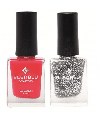 Elenblu French Rose & Crescent Dreams  9.9ml Each  Pearls Nail Polish (Set of 2)