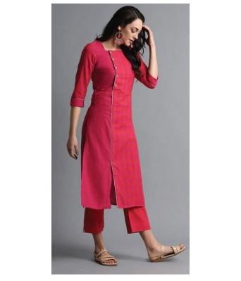 Siyani Pink Color Festive & Party Printed Women Kurti and Pant Set