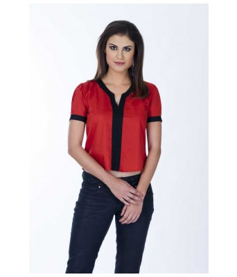 Casual Short Sleeve Solid Womens Black Top