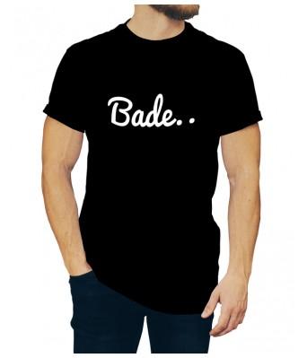Black Color iLyk Round Neck Bade Stylish Printed Unisex T shirts