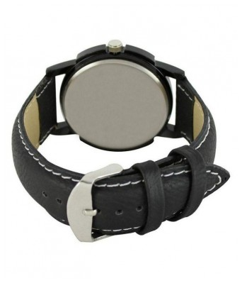 Saving Store BLACK COLOR WATCH FOR BOYS Leather Analog
