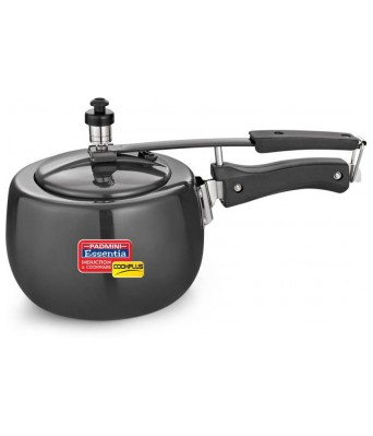PADMINI HARD ANOZISED 5LTR. PRESSURE COOKER COOKPLUS 5LTR. IC