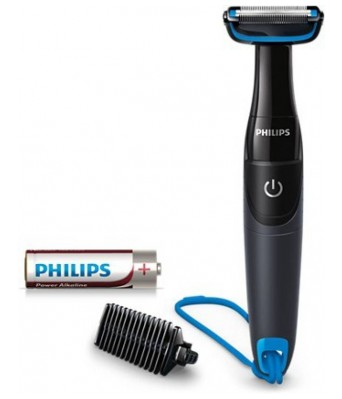 Philips Body Groom BG1024/16 Battery Operated Body Groomer Cordless Body Groomer for Men  (Black  Blue)