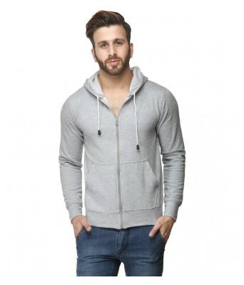 Ansh Fashion Wear MenS Grey Full sleeve Hooded Sweatshirt