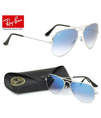 stylish 3026 blue shade silver frame sunglasses for men