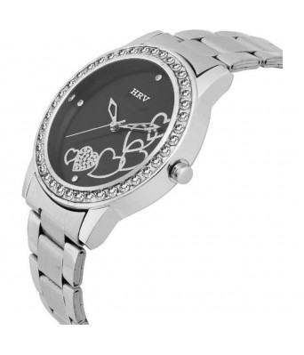 Heart black and White Women watch pack of 2