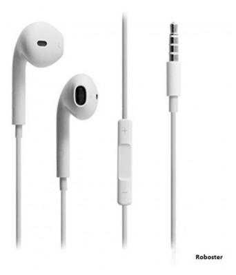 Queer Premium Earpods Wired In Ear Earphones for IOS (White)
