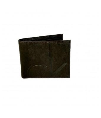 Calvin Klein Genuine Leather Brown Mens Wallet (Bi-Fold)
