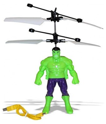 Hand Sensor Flying Helicopter Avengers Hulk Action Figure Flying Hero with USB Charger (Without Remote Control)