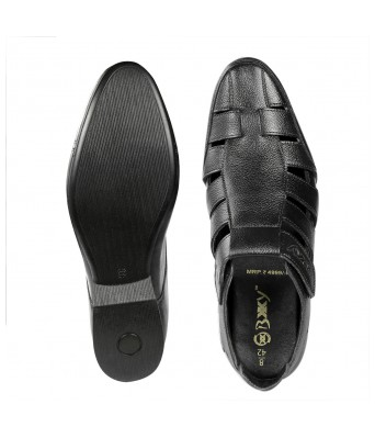 BXXY 3 Inch (7.6 cm) Height Increasing Casual Leather Roman Sandals for All Occasions ( Instant 3 Inches Hidden Height Gainer )