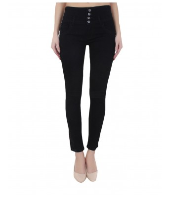 Ansh Fashion Light Blue & Black Color Womens Denim Jeans Regular Fit Mid Waist Pack of 2 Jeans