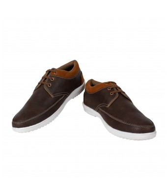 Men Brown Casual Shoes Yellow Tree