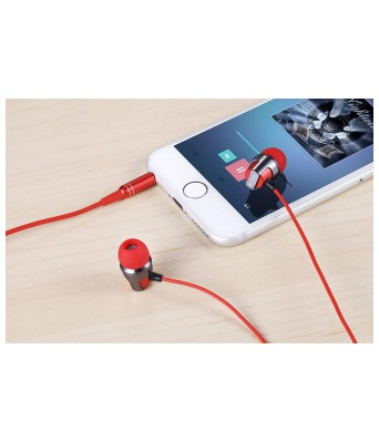Zoook Jazz ZM-EM14 Earphones with Mic (Red)
