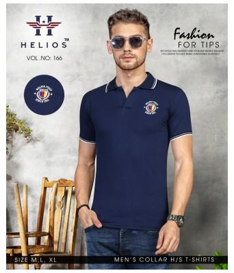 Ansh Fashion Wear Stylish Collar Half Sleeves Blue Color T-Shirt for Mens & Boys