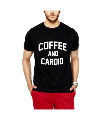 iLyk Mens  Coffee and Cardio Printed  T-Shirt