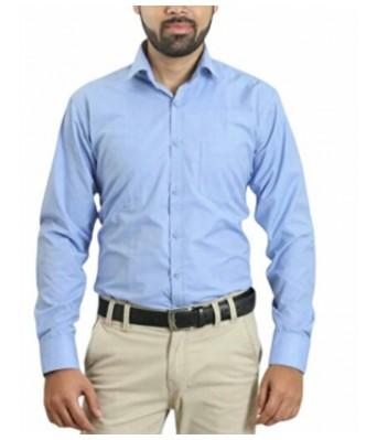 Men's Cotton Light Sky Shirt