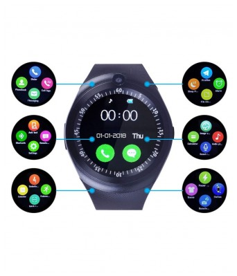 SARGA NEWLOOKS Smart watch for men and women in Black colour with Multi Functions