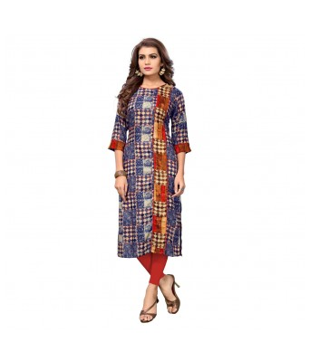 Multi Color Printed Rayon Full Stitched Kurtis - RK Fashions