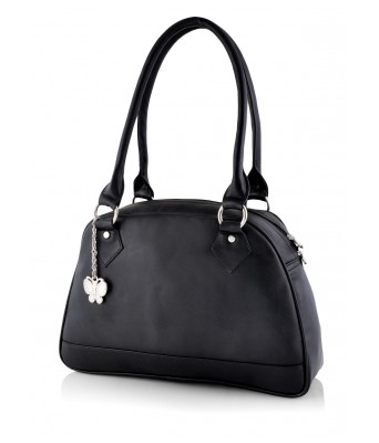 Butterflies Women's Handbag (Black) (BNS 0592BK)