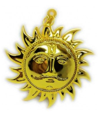 FENG SHUI DECORATIVE SPIRITUAL DOOR/WALL HANGING SHIV SHANKAR SUN FACE/MASK SURYA SURAJ ANTIQUE HINDU RELIGIOUS IDOLS-15 CM-GOLDEN