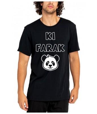 KI Farak PANDA iLyk Printed Cotton Black Color Round Neck T-shirt for Mens & Boys