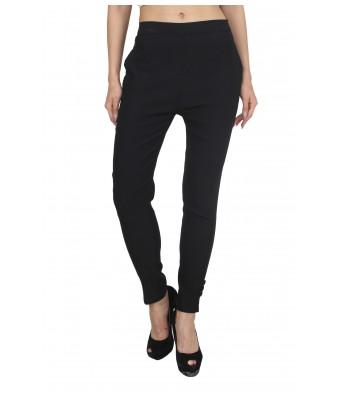 Ridge Vouge Womens Rayon Black Straight Pant