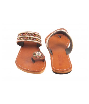 AMAZING TRADERS  Synthetic Leather Slipper For Womens,Girls (Brown  Color)
