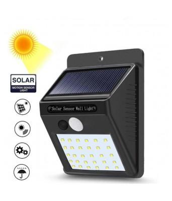 Sasta Bazar 20 LEDs Bright Waterproof Solar Lights Wireless Security Motion Sensor Night Light or Outdoor/Garden Wall Solar Sensor Light for Garden