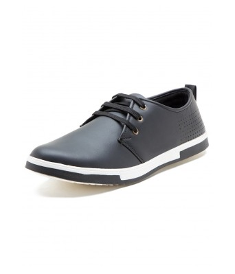 Iroo Mens Black Canvas Shoes