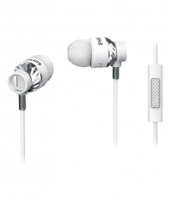 Philips Philips SHE5305WT/00 Headphones In Ear Wired Earphones With Mic White