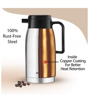 Milton Thermosteel Omega Vacuum Insulated Flask, 1000 ml, Silver