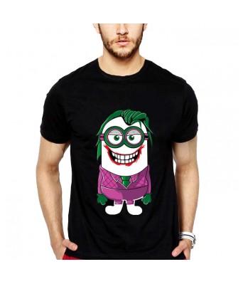 iLyk Men s Jokerinion Printed T-Shirt (Black)
