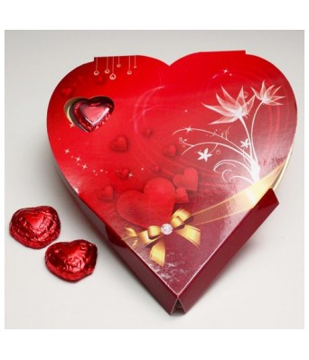 MoShiks Homemade Chocolates 11 Hearts Red Box